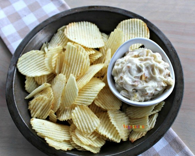 Onion Dip @vegetarianmamma.com #glutenfree #dairyfree