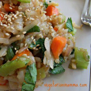Rice Noodle Stir Fry – #glutenfree #vegan
