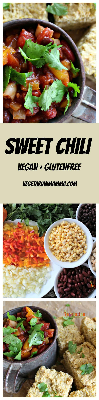 Vegetarian Chili - Sweet Gluten Free Chili