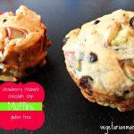 Chocolate Chip Strawberry Rhubarb Muffins –  #glutenfree