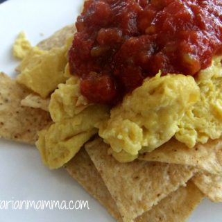 Tortilla Chips with Eggs and Salsa – #glutenfree