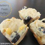 Blueberry Peach Muffins – #glutenfree