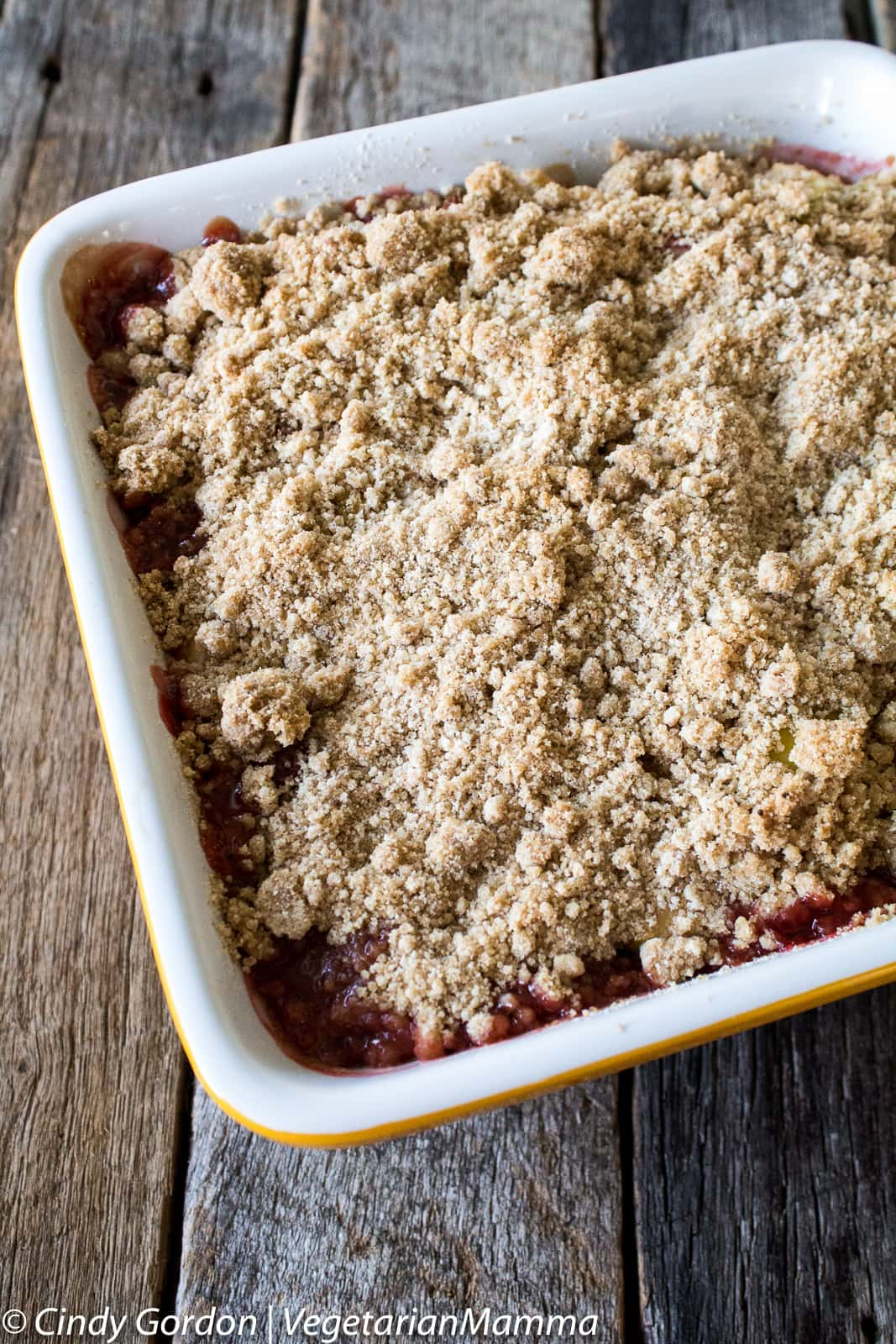 Strawberry Rhubarb Crisp - gluten free and dairy free