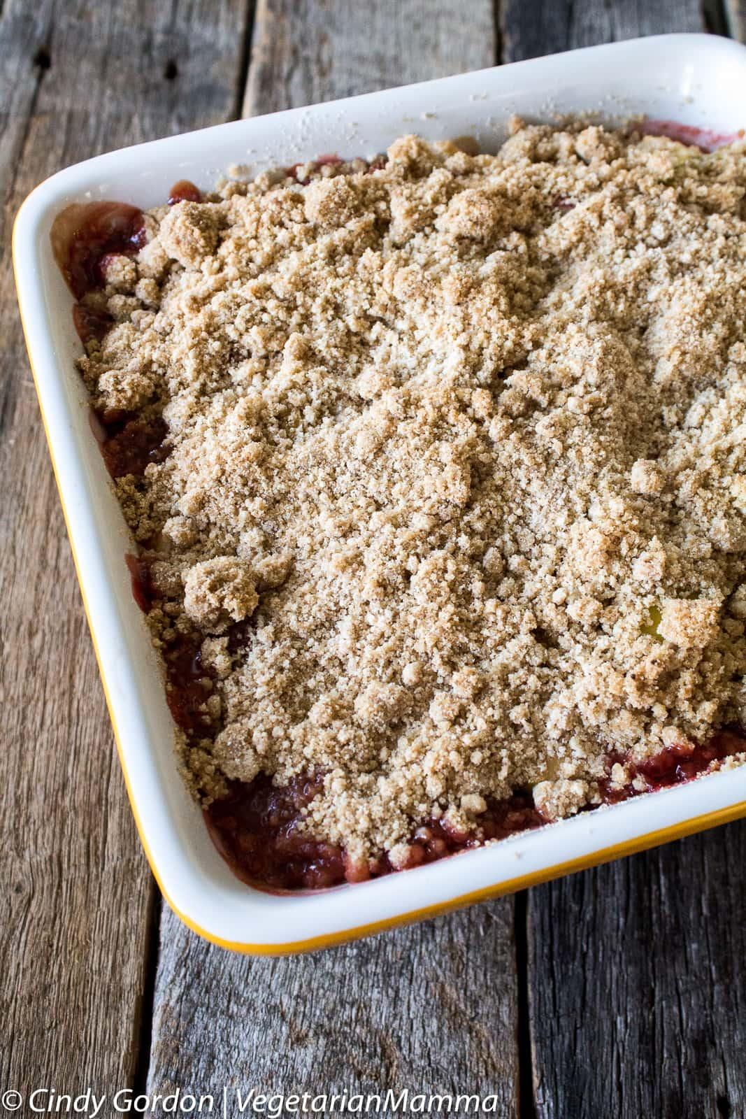 casserole of Strawberry Rhubarb Crisp