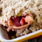 Strawberry Rhubarb Crisp – a delicious seasonal dessert