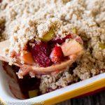 Strawberry Rhubarb Crisp - gluten free and dairy free