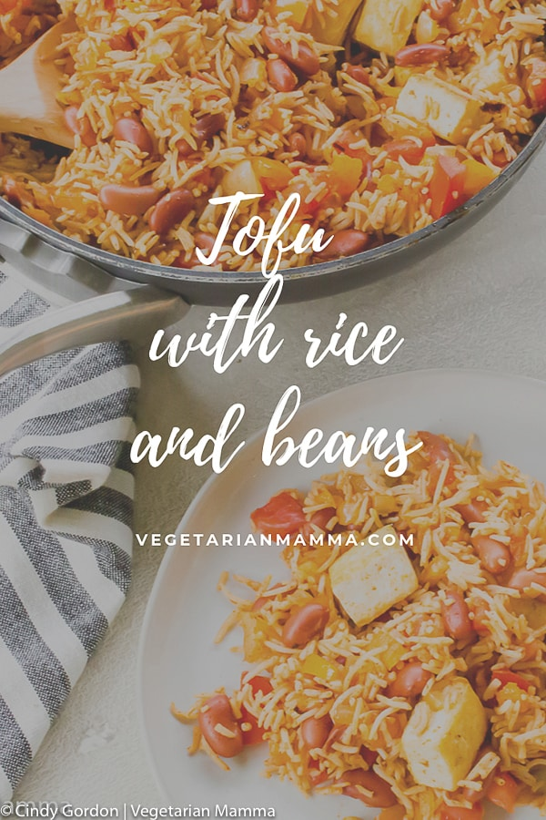 Tofu with Spanish Rice and Beans pin