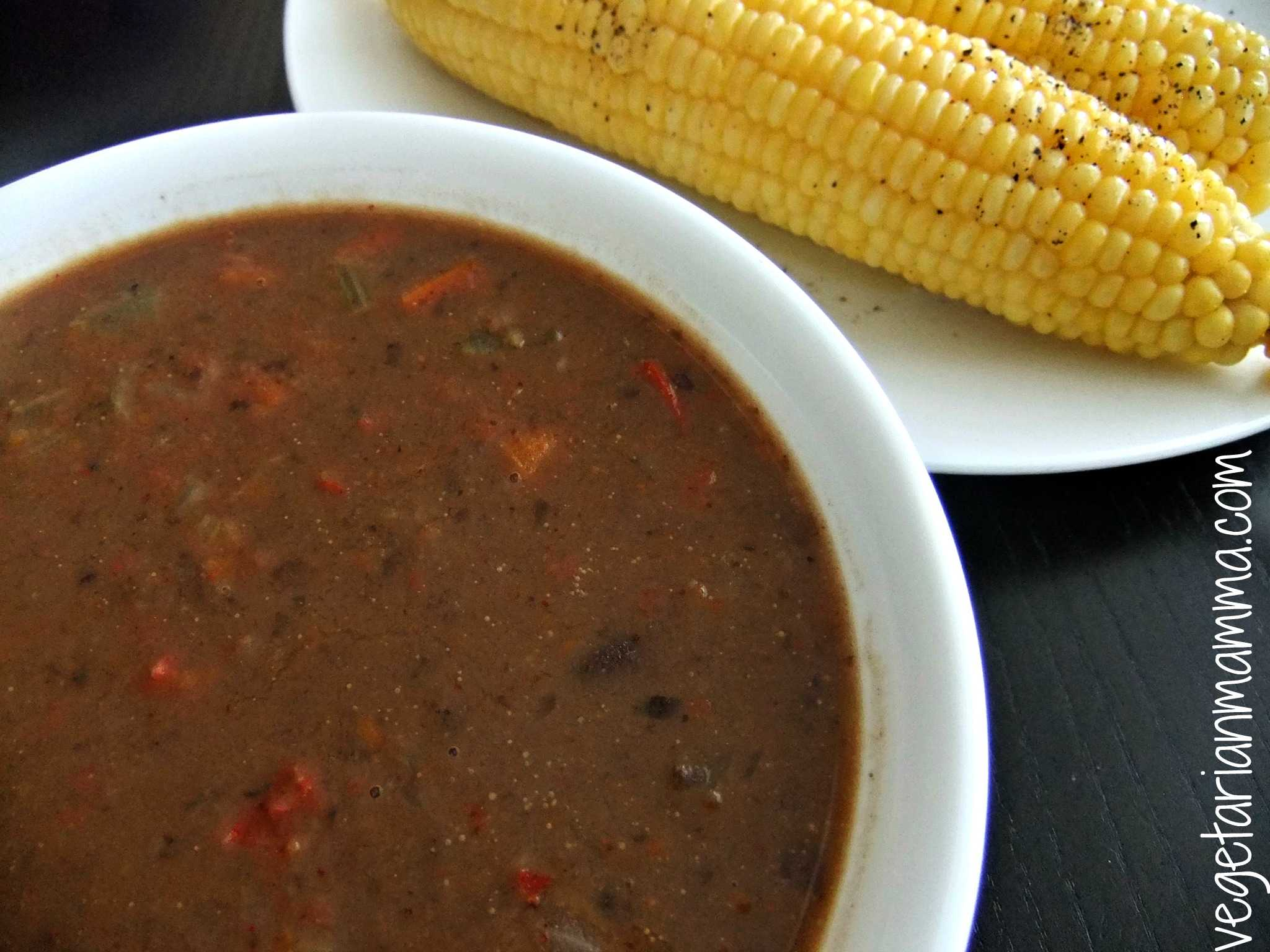 ... recipe for soup black bean soup that is i think soup is great any