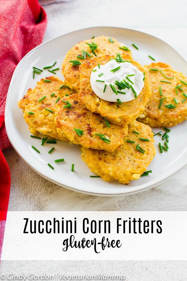 Zucchini corn Cakes or Zucchini Fritters pin