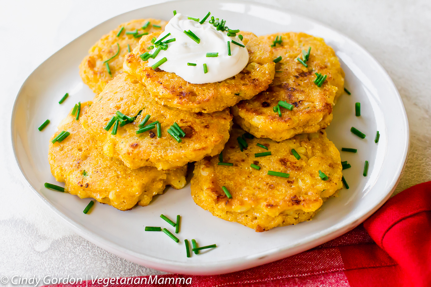 Zucchini corn Cakes or Zucchini Fritters are gluten free and make a perfect freezer meal.