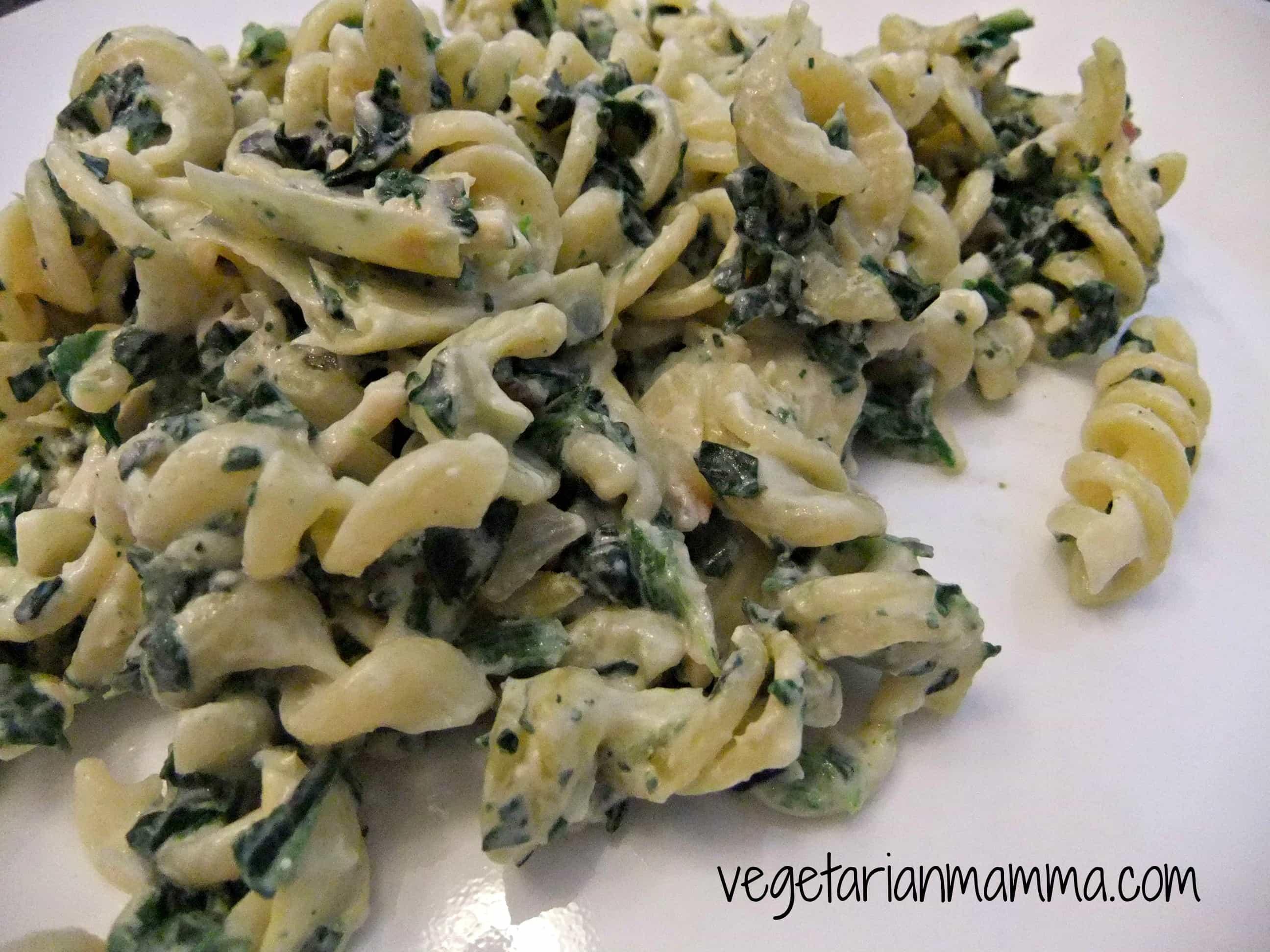 Creamy Spinach Artichoke Pasta Bake
