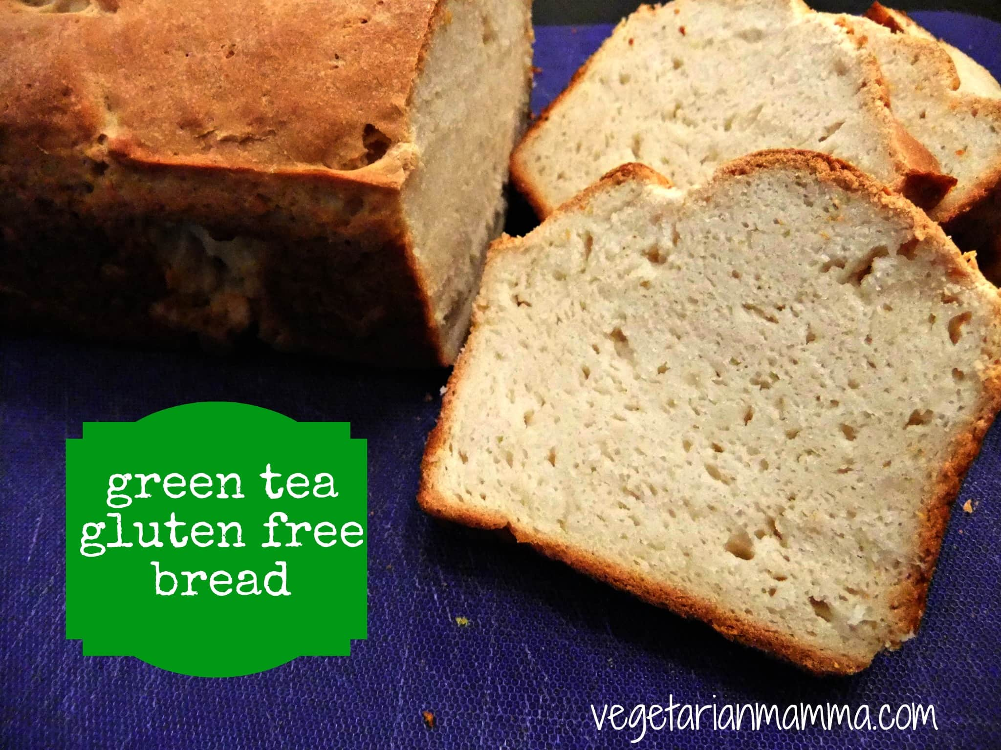 Green Tea Bread - #glutenfree - Vegetarian Mamma
