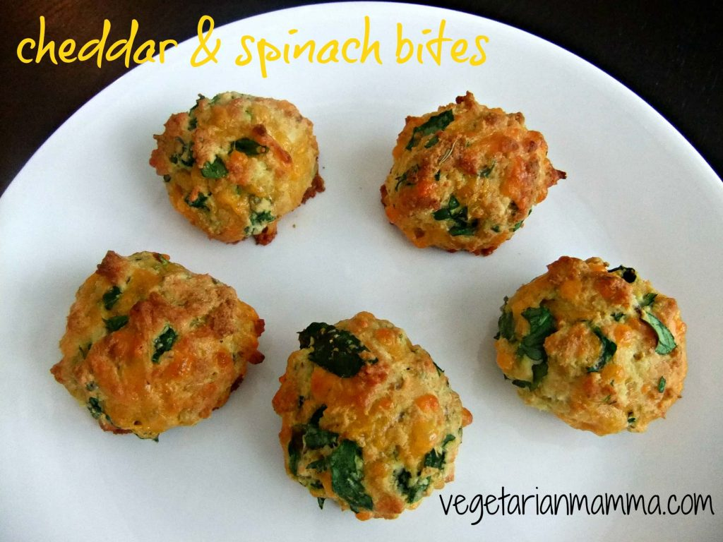 Cheddar and Spinach Bites