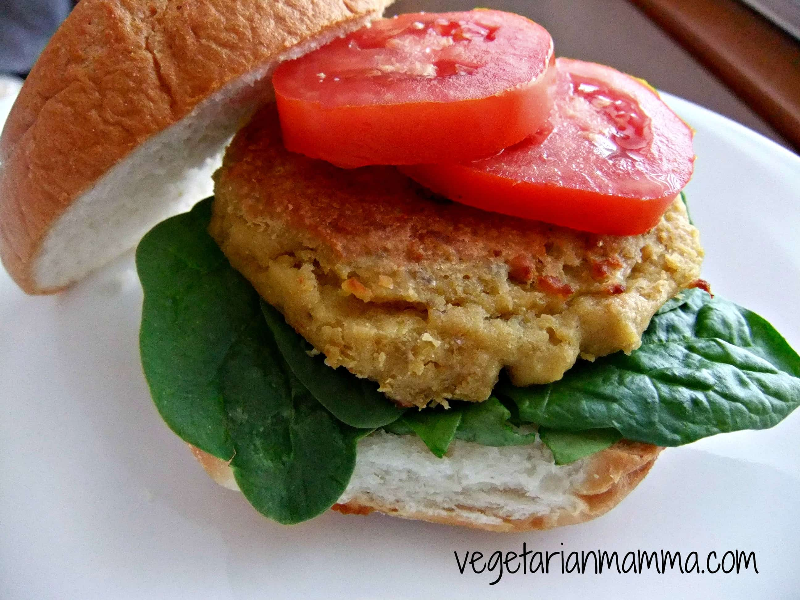 Chickpea Burgers - #glutenfree - Vegetarian Mamma