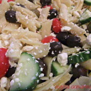 Greek Pasta Salad – #glutenfree