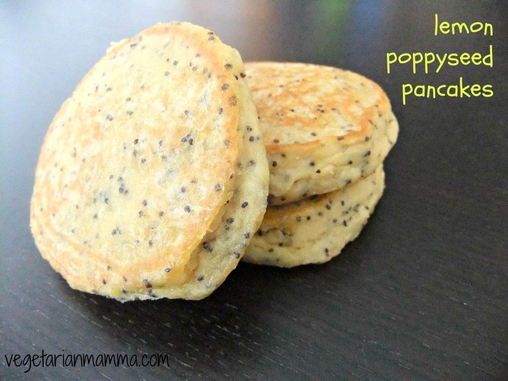 Lemon Poppyseed Pancakes - #glutenfree - Vegetarian Mamma