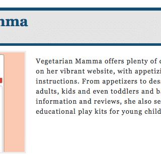 Vegetarian Mamma named in TOP 25 #foodallergy blogs by @Kwikmed