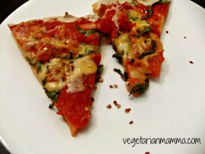 Roasted Red Pepper and Arugula Pizza – #glutenfree