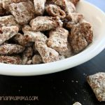 "Double Chocolate Puppy Chow – A treat for ""humans"" not dogs :)"