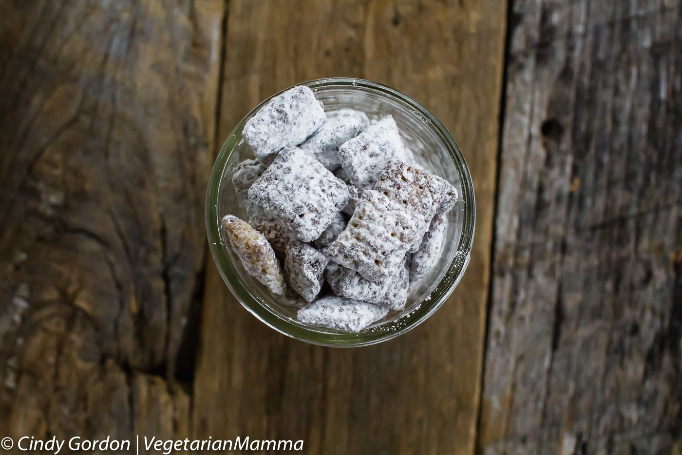 Chocolate Puppy Chow  aka Muddy Buddies  is fun to share with friends at the holidays.