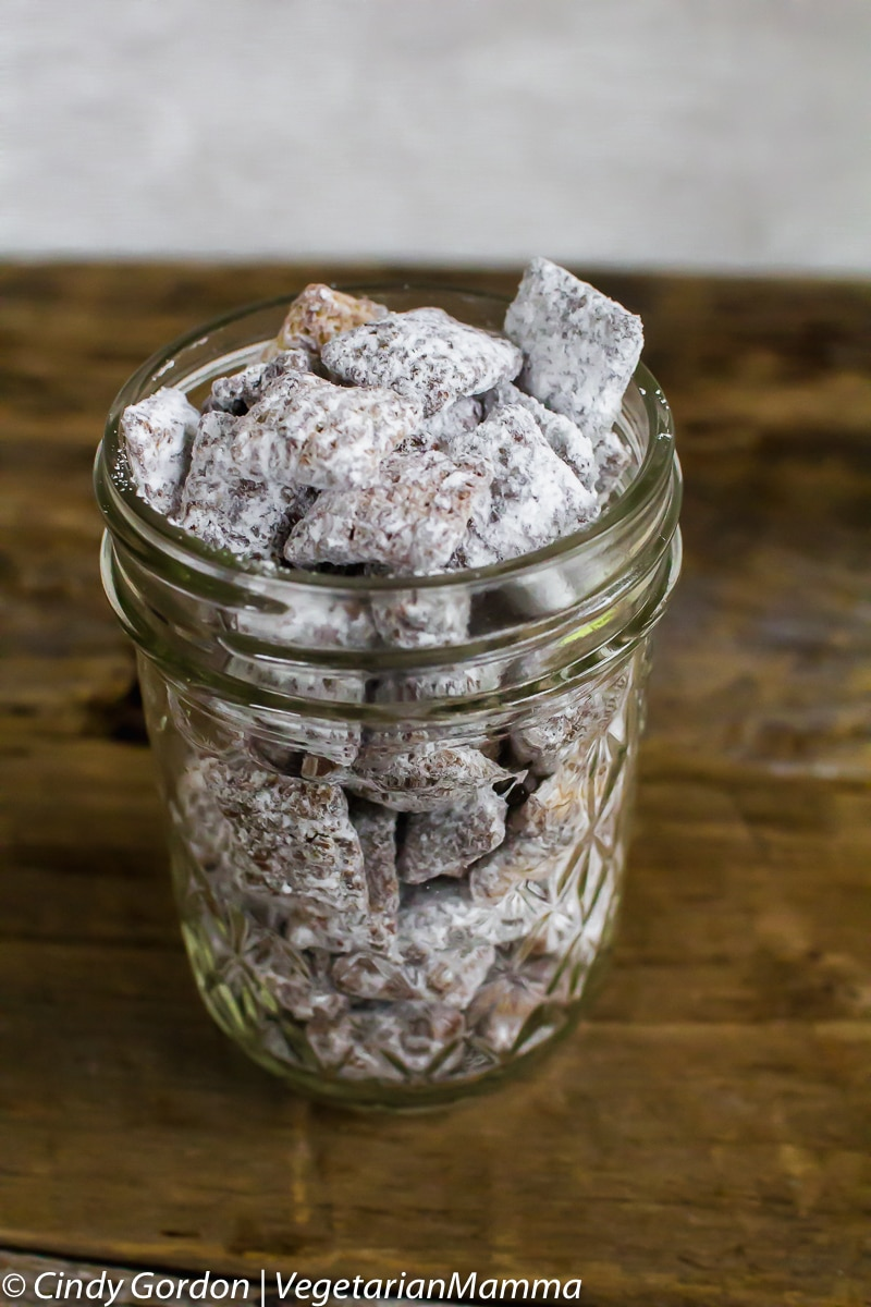 Chocolate Puppy Chow  aka Muddy Buddies is a delicious allergy friendly treat.