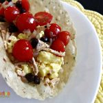 Black Bean Tomato Egg Breakfast Burrito – #glutenfree
