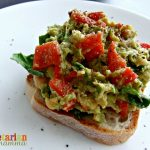 Roasted Red Pepper, Avocado and Chickpea Sandwich Spread – #glutenfree #vegan