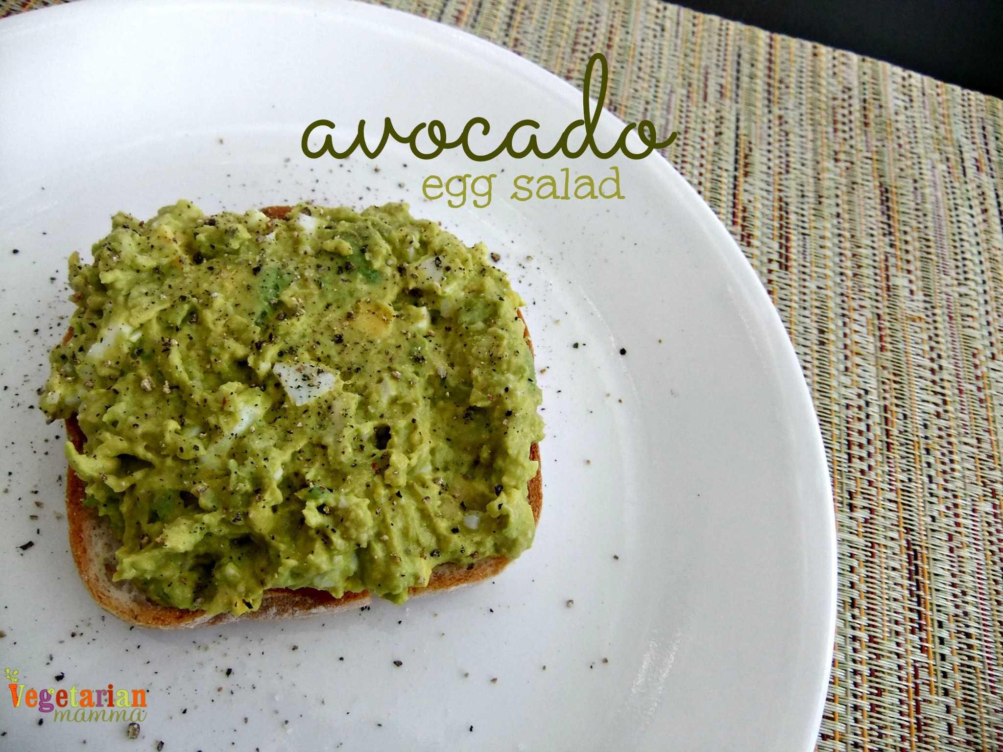 Avocado Egg Salad - #glutenfree #singleserve - Vegetarian Mamma