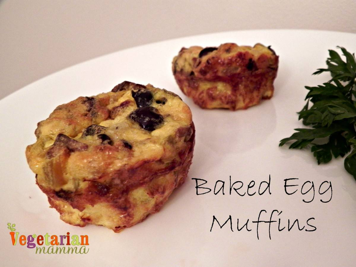 Baked Egg Muffins - #glutenfree - Vegetarian Mamma