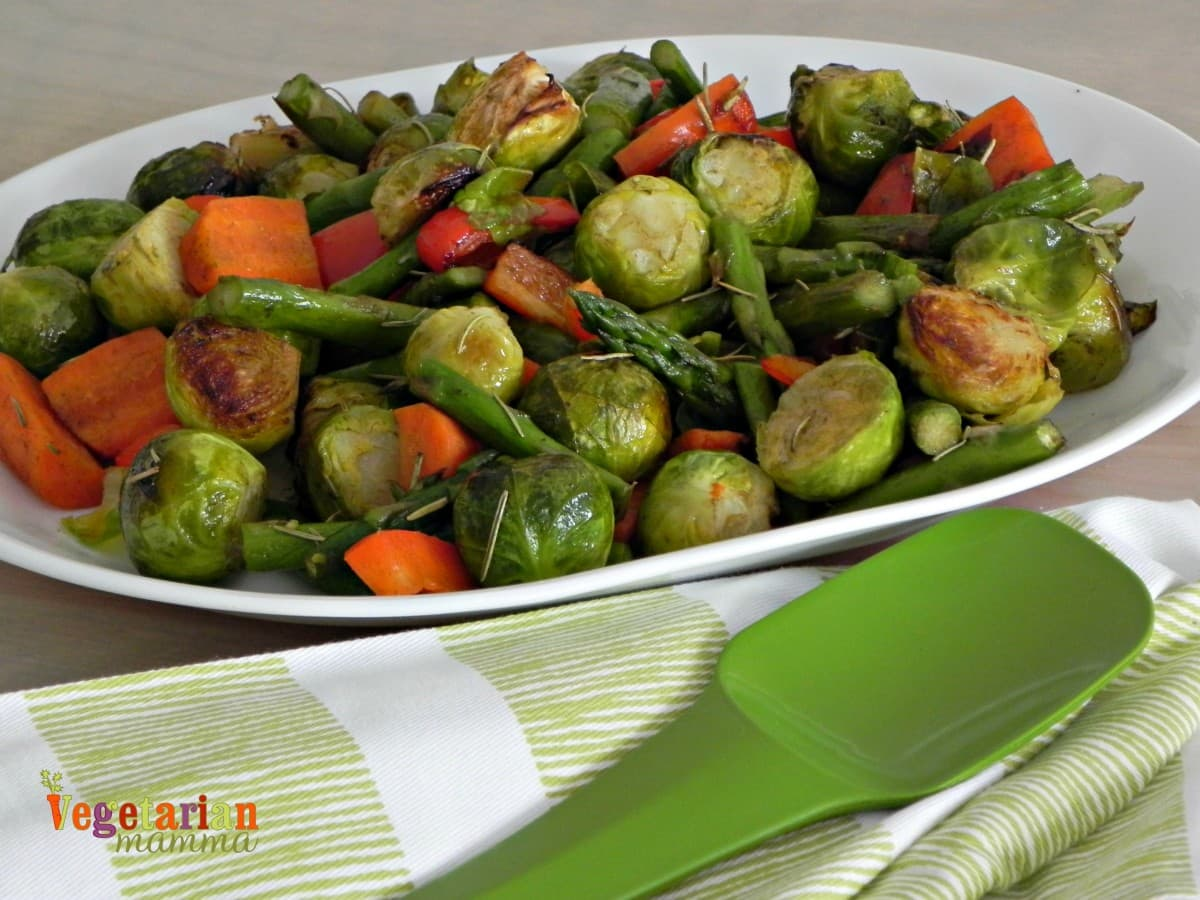 Roasted Vegetables #glutenfree #vegan vegetarianmamma.com