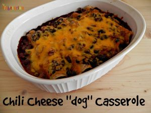 "Chili Cheese ""dog"" Casserole – #glutenfree #vegetarian"