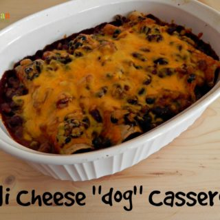 "Chili Cheese ""dog"" Casserole – #glutenfree #vegetarian"