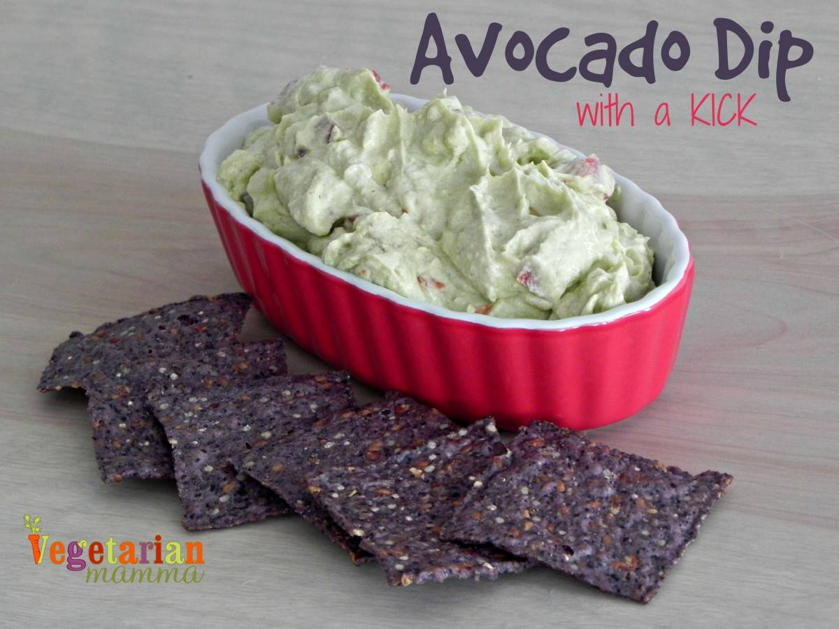 Avocado Dip with a Kick #glutenfree #vegan vegetarianmamma.com