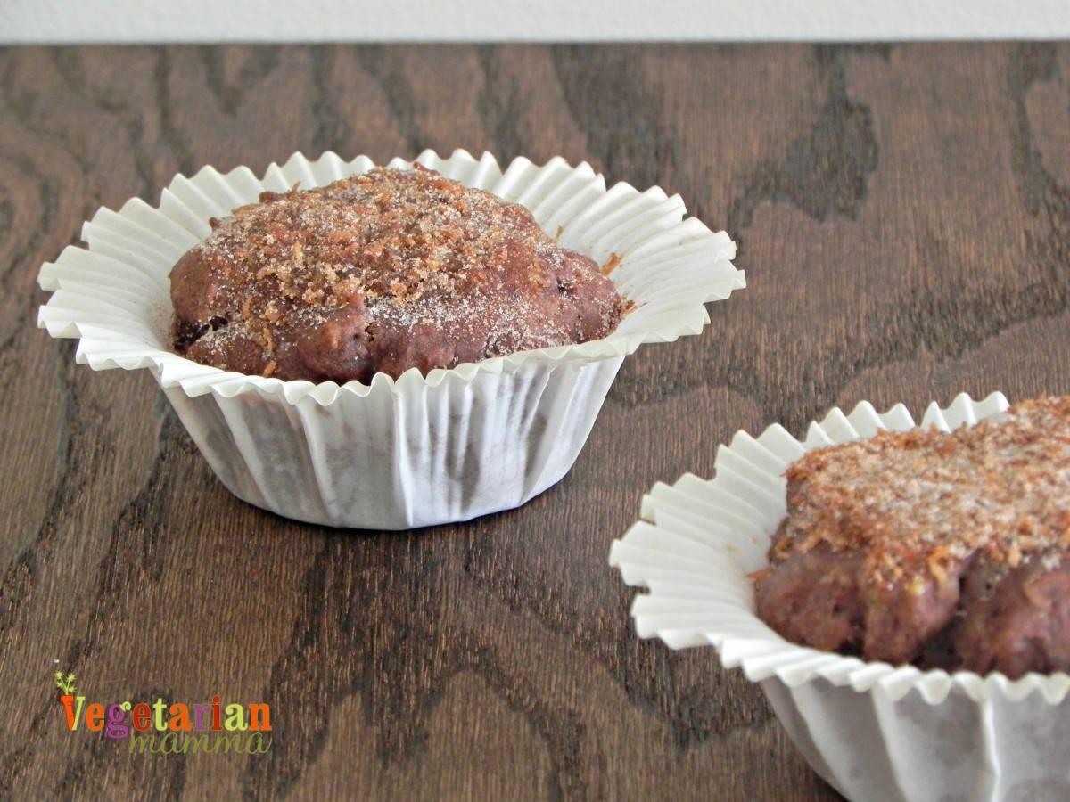 Banana Coconut Muffins #glutenfree vegetarianmamma.com