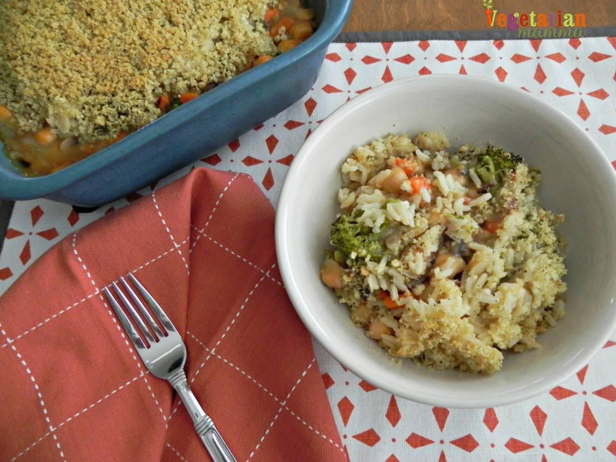 Broccoil Bean Casserole #glutenfree vegetarianmamma.com