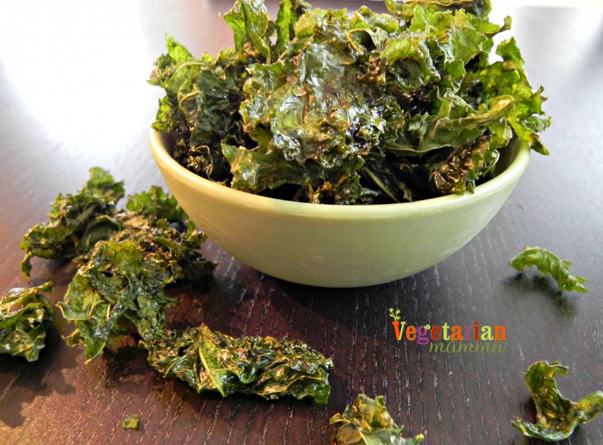 Easy Kale Chips - #glutenfree - Vegetarian Mamma