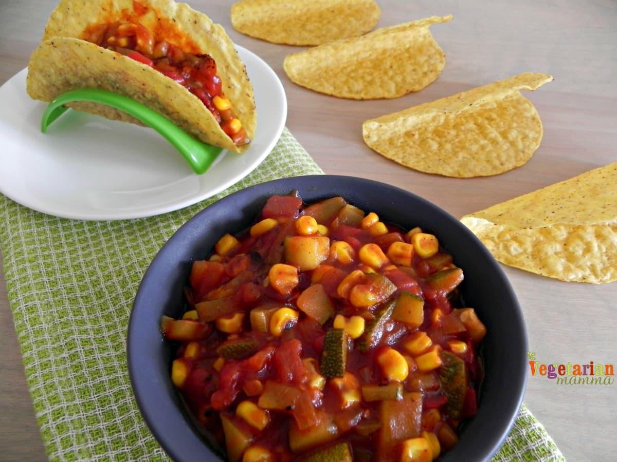 Easy Vegetable Tacos #glutenfree #vegan vegetarianmamma.com