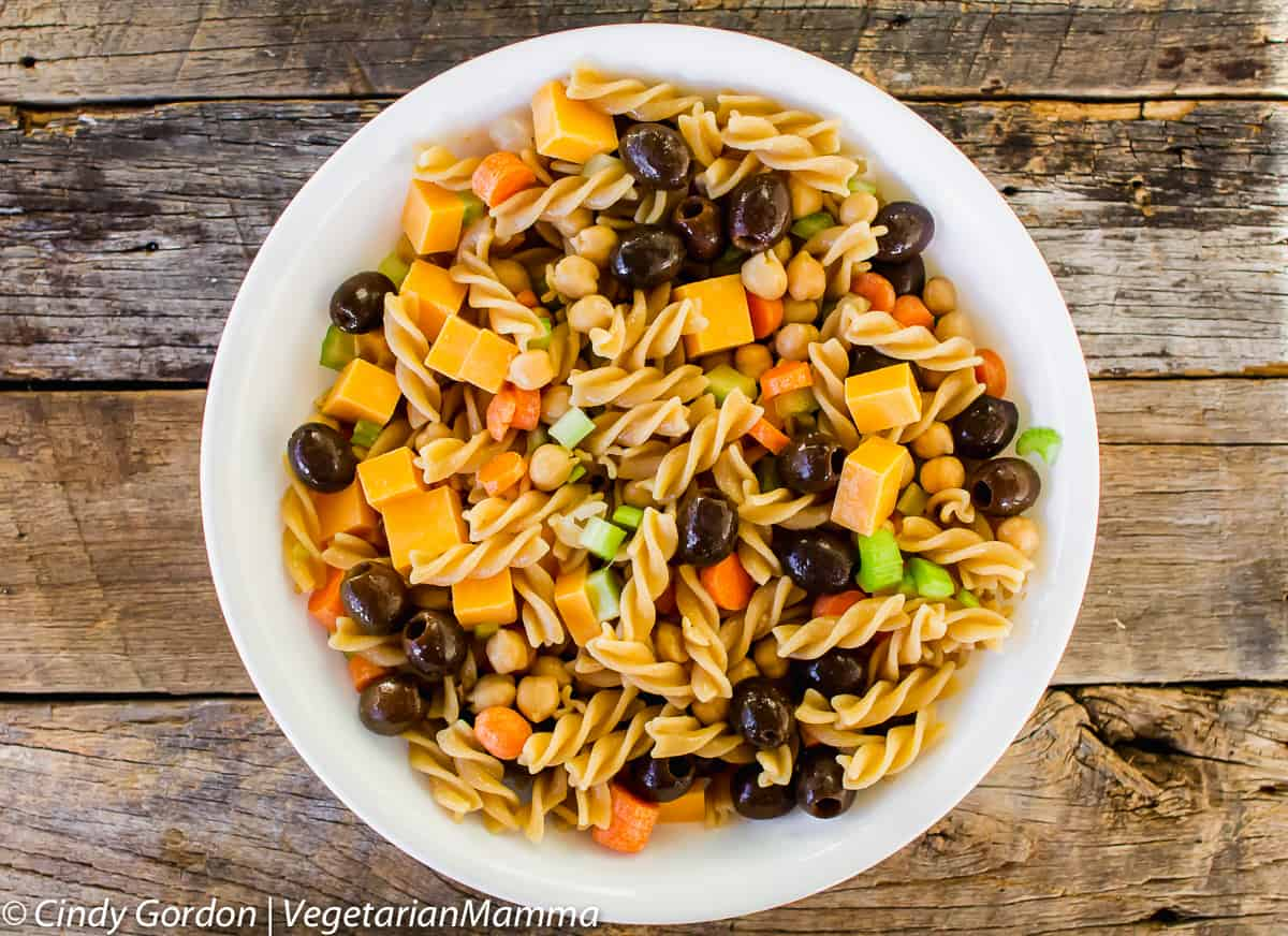 summer pasta salad is the perfect picnic side dish
