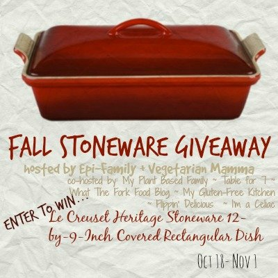 Fall Stoneware Giveaway Vegetarianmamma.com