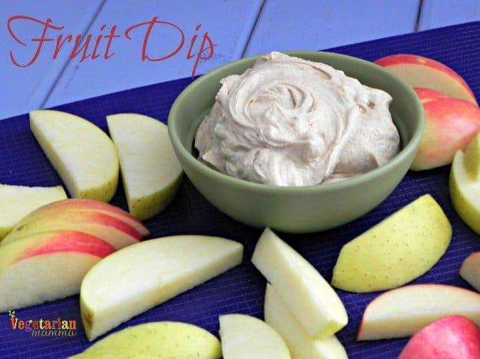 Fruit Dip #glutenfree @vegetarianmamma.com #nutfree
