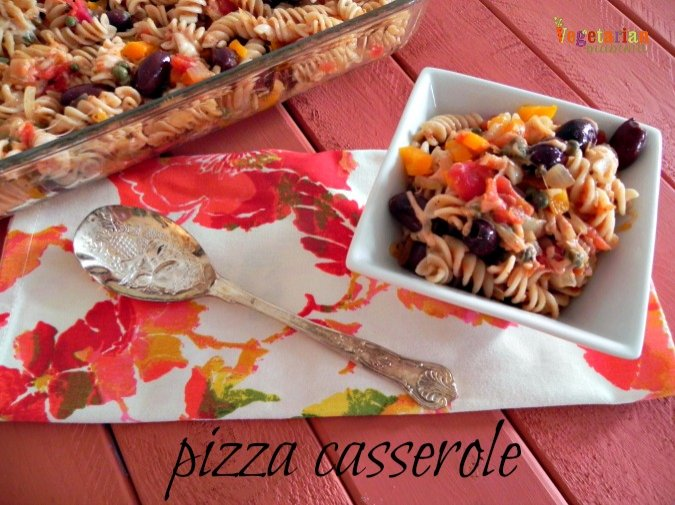 Pizza Casserole #glutenfree @VegetarianMamma.com