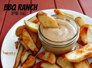 BBQ Ranch Dipping Sauce @vegetarianmamma.com #glutenfree