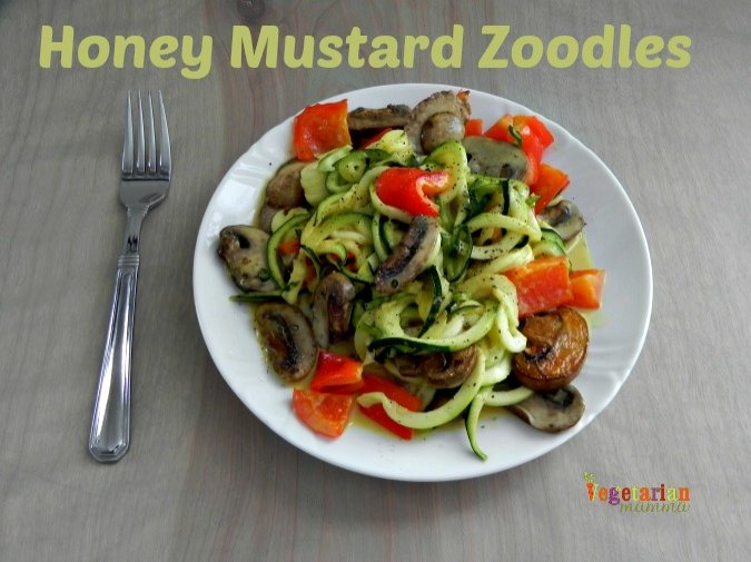 Honey Mustard Zoodles #glutenfree @vegetarianmamma.com