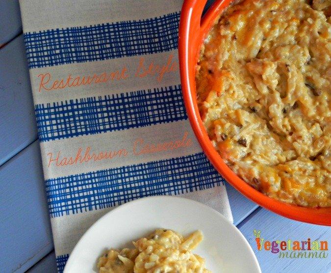 Restaurant Style Hashbrown Casserole @vegetarianmamma.com #glutenfree