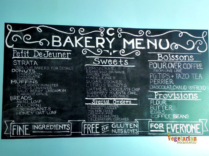Cherbourg Bakery Menu