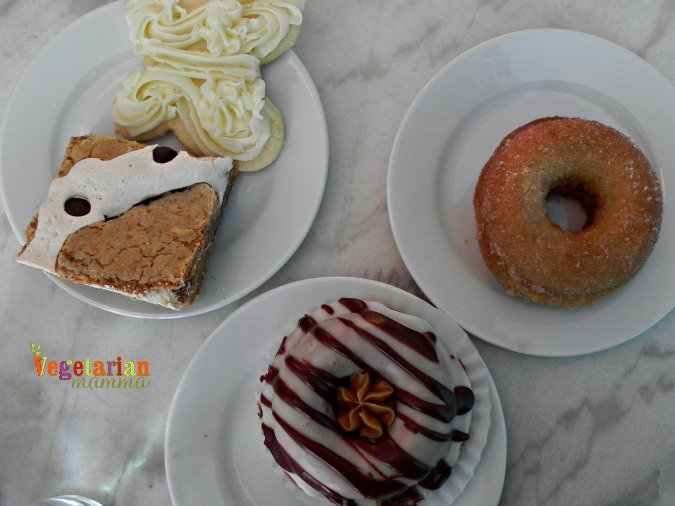 different desserts from Cherbourg Bakery on plates