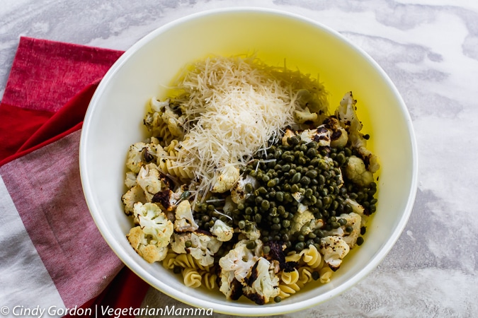 Roasted Lemon Cauliflower Pasta ingredients