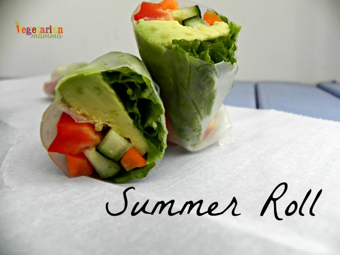 Summer Roll @vegetarianmamma.com #glutenfree #nutfree #vegan