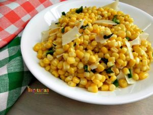 Sweet corn with chilies – a great side dish