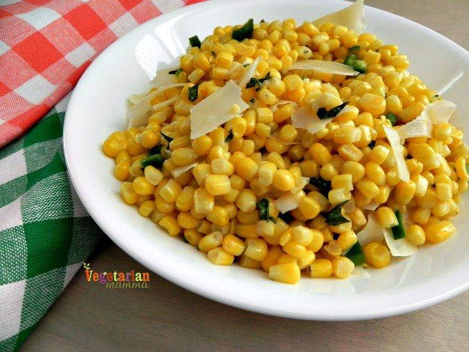 Sweet Corn with Chilies #glutenfree #sidedish #vegetarian from @vegetarianmamma.com